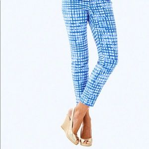 NWT Lilly Pulitzer Kelly Skinny Ankle Pant Blue